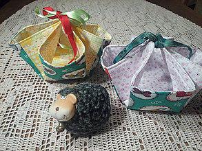 Textil - Košíček na výslužku - 7872156_