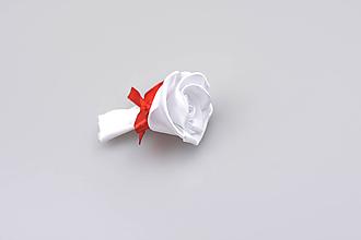 Pierka - Pierko biele ruža (bielo-červené) - 7869171_