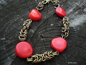 Náramky - Koral chainmaille - 7870385_