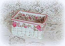 Košíky - Košík - ruža - 7869331_