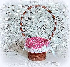 Košíky - Košík dekoračný - malinový - 7869183_
