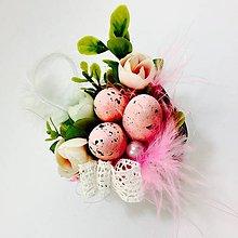 Dekorácie - Veľkonočná dekorácia Mini košík - 7869603_