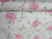 Textil - látka veľké ruže - 7868816_