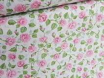 Textil - látka malé ruže - 7868837_