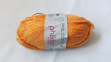 Galantéria - Phildar phil coton 4 oranžová - 7871010_