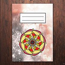 Papiernictvo - Zošity mandaly (červeno žlté) - 7869958_