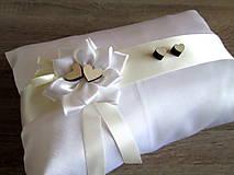 Úžitkový textil - Vankúš pod obrúčky - 7873554_