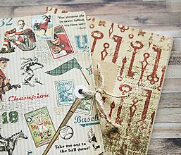 Papiernictvo - Sada retro zápisníkov - 7875323_
