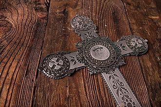 Dekorácie - Kríž na stenu z chirurgickej ocele - 7875443_
