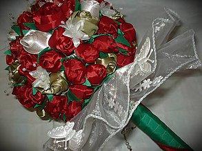 Kytice pre nevestu - Kytica červených ruží - 7876977_