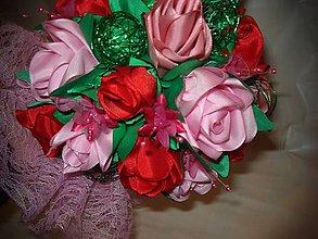 Dekorácie - Kytica ruží - 7877020_
