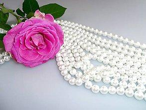 Korálky - perly korálky 8mm - perly z mušlí - 7874728_