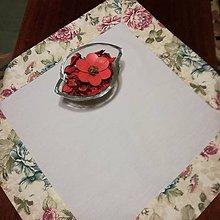 Úžitkový textil - Obrus, prestieranie kvety - 7873397_