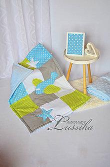 Textil - Detská MINKY deka 70x90cm - 7875619_