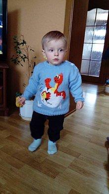 Detské oblečenie - Detský pulovrík : DINO vo vajíčku - 7874575_
