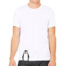 Oblečenie - Pánske tričko biele TUČNIAK - 7875723_