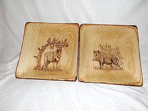 Nádoby - drevené taniere - 7876421_