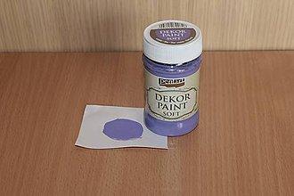Farby-laky - Decor Paint Soft 100ml - fialová - 7874655_