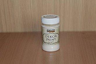 Farby-laky - Decor Paint Soft 100 ml - krémovobiela - 7875017_