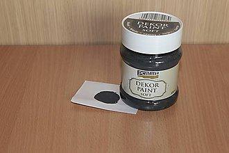 Farby-laky - Decor Paint Soft 230ml-čierna - 7875158_