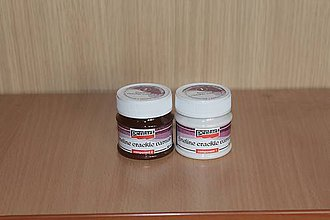 Farby-laky - PENTART Krak. Lak jemný, dvojfázový, 2 x 50ml - 7875930_