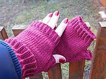 Rukavice - jednoduché 100% Merino rukavičky bez prstov - 7875688_