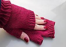 Rukavice - jednoduché 100% Merino rukavičky bez prstov - 7875691_
