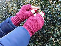 Rukavice - jednoduché 100% Merino rukavičky bez prstov - 7875697_