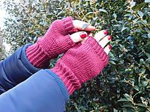 Rukavice - jednoduché 100% Merino rukavičky bez prstov - 7875698_