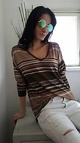 Tričká - Tričko Viola hnedý pásik - 7875223_