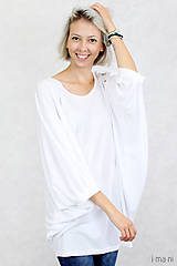 Topy - Dámske tričko biele BAMBUS 04 zlatá potlač VTÁKY - 7873754_