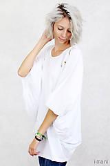 Topy - Dámske tričko biele BAMBUS 04 zlatá potlač VTÁKY - 7873755_
