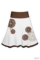 Sukne - Dámska sukňa KVETY - 7874104_