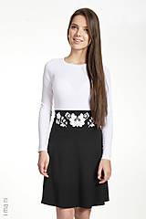 Sukne - Dámska sukňa A-strih KVETOVANÝ OPASOK - 7874192_