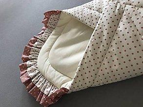 Textil - perinka pre bábätko smotanovo ružová - 7880878_