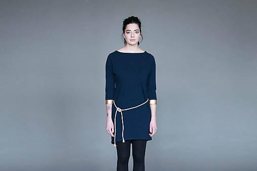 Šaty - Tunikošaty Blue/Gold - 7877364_