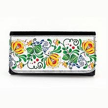 Peňaženky - Peňaženka folk kvety farebné 2 - 7879214_