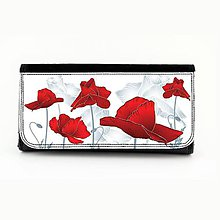 Peňaženky - Peňaženka maky 1 - 7879271_
