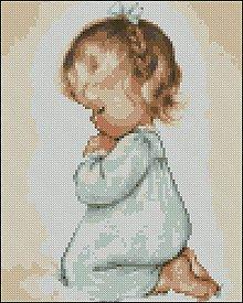 Návody a literatúra - C027 Praying Girl - 7880766_