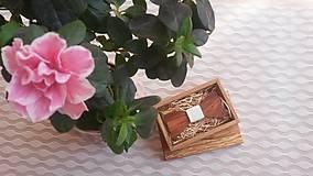 - Pánsky drevený motýlik - 7878210_