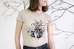 Tričko priliehavé_lesný sen