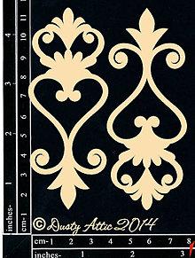 Papier - Dusty Attic - Fancy Flourish - Ozdobný ornament 2 (lepenkové výrezy) - 7877230_