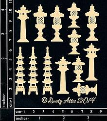 Papier - Dusty Attic - mini Garden Lanterns - Ázijské záhradné lampy (malé) - 7877289_