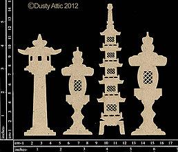Papier - Dusty Attic - Garden Lanterns - Záhradné lampy (výrezy z lepenky) - 7877399_