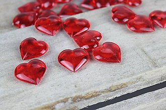 Korálky - Červené srdiečka na aranžovanie - 7878755_