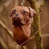 Bordeauxská doga - kľúčenka podľa fotografie