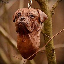 Kľúčenky - Bordeauxská doga - kľúčenka podľa fotografie - 7879070_