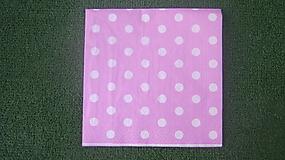 Papier - biele bodky na ružovom - 7880138_