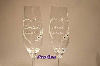 Nádoby - Chloe - svadobné poháre 2ks - 7880852_