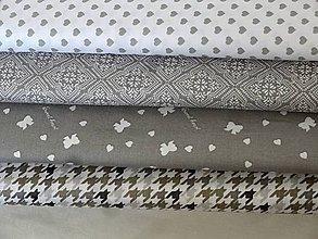 Textil - Bavlnené látky- sivé - 7877200_